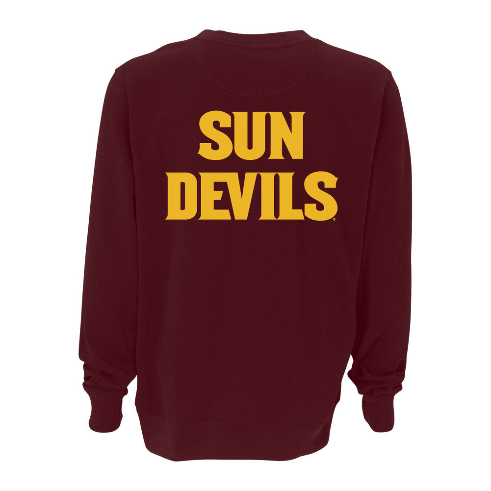 Arizona state sun devils crewneck sweatshirt maroon Arizona state golf shirts
