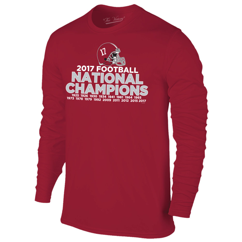 Alabama Crimson Tide National Champs Long Sleeve Tshirt Roll Tide (2018 National Championship) Image a