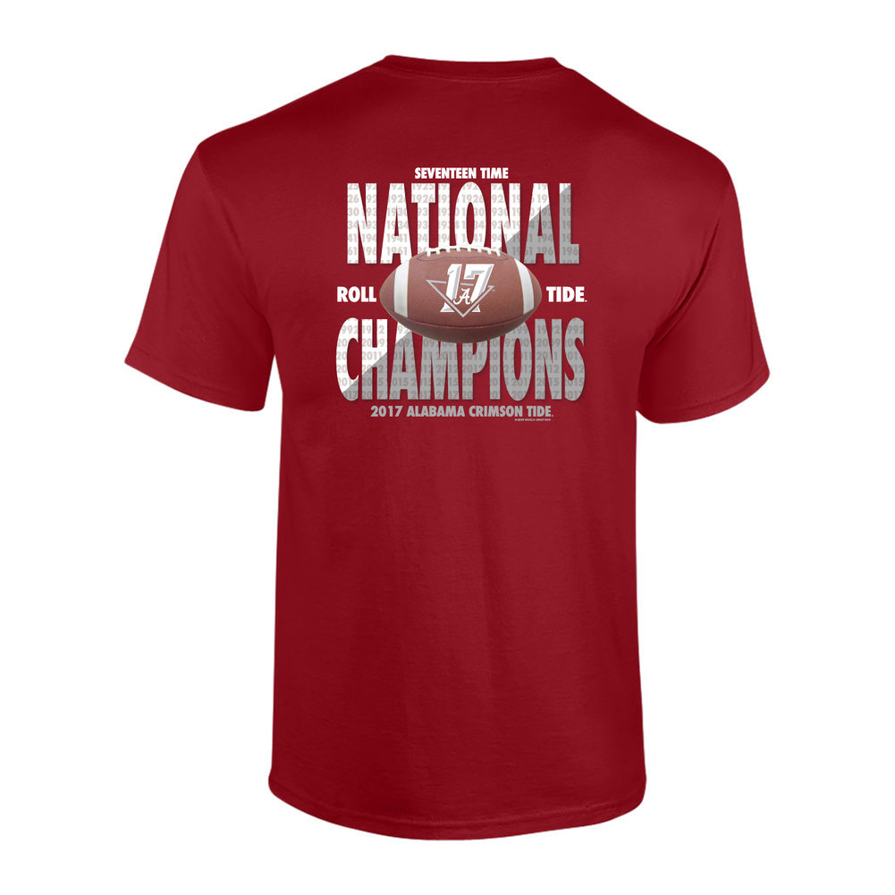 Alabama Crimson Tide National Champs Tshirt Football (2018 National Championship) Image a